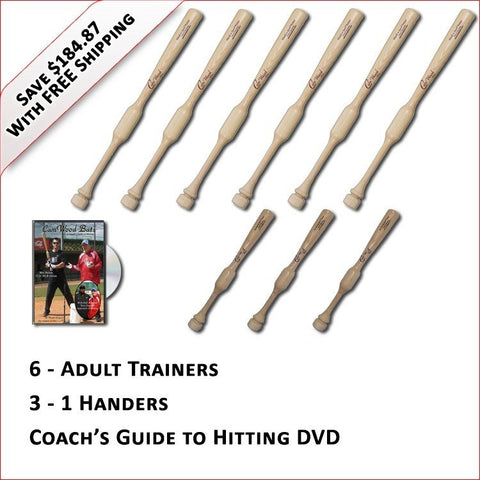 6 Trainers, 3 - 1 Handers, & Coach's Guide to Hitting DVD