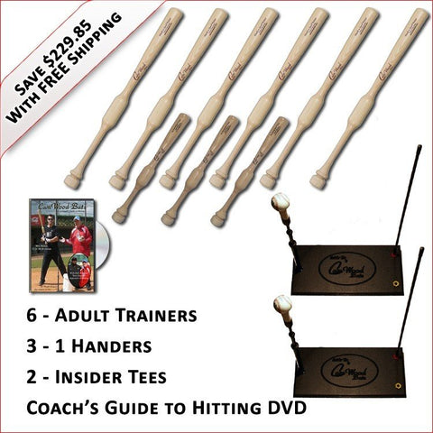 6 Trainers, 3 - 1 Handers, 2 Insider Tees & Coach's Guide to Hitting DVD