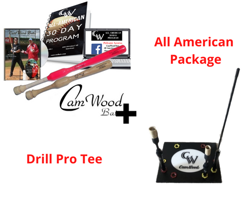 CamWood Softball Trainer + One Hander + Drill Pro Tee (Free AA Program & Custom Tee Logo)