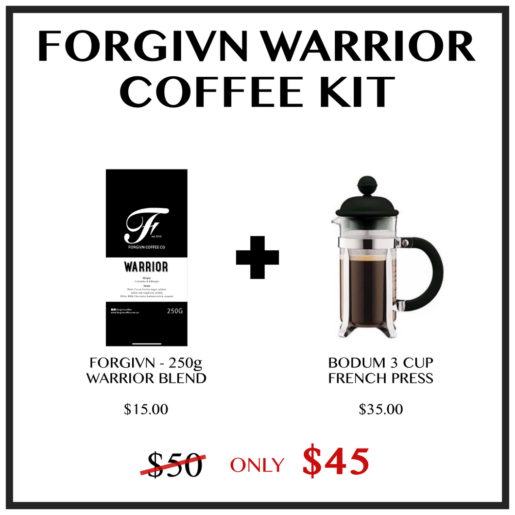 Forgivn Warrior Coffee Kit