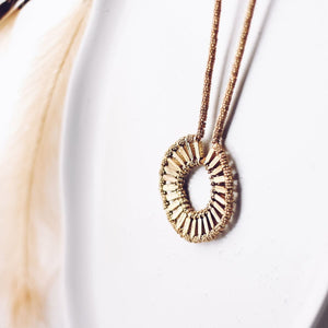 Golden Sun Pendant Necklace