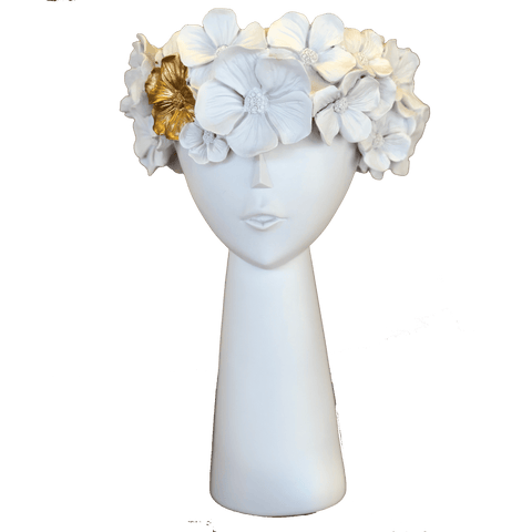 Protea Planter Head with Gold