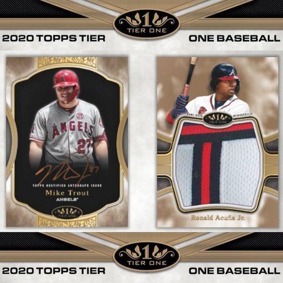 2020 Topps Tier One Baseball Hobby Personal Box