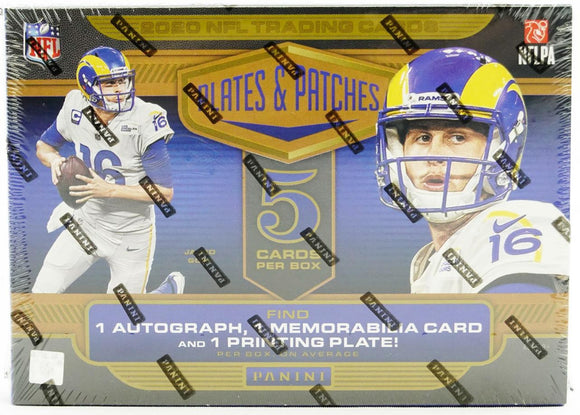 2020 Panini Plates and Patches Football Hobby Personal Box