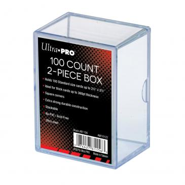 Ultra Pro 2-Piece 100 Count Clear Card Storage Box.