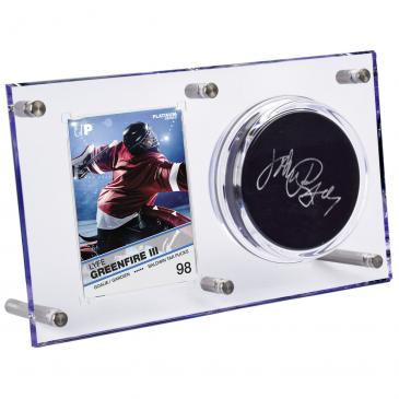 Ultra Pro Clear Puck & Card Flip Display 120-pt