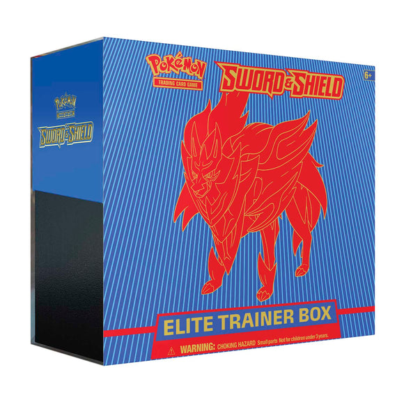 Pokémon TCG: Sword & Shield Elite Trainer Box (Zamazenta) SHIPPED SEALED OR PICKUP ONLY