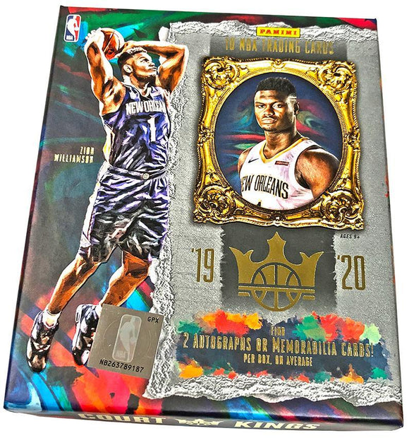 2019-20 Panini Court Kings Basketball Hobby Personal Box
