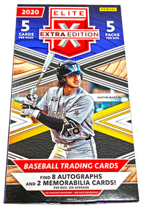 (8 AUTOS) 2020 Panini Elite Extra Edition Baseball Hobby Box