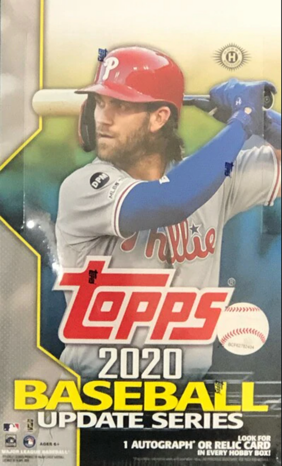 10% OFF TODAY ONLY 2020 Topps Update Series Baseball Hobby Box