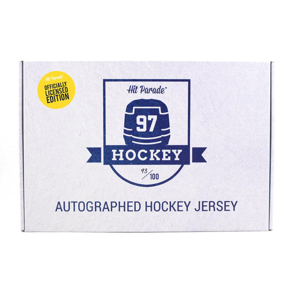 2020/21 Hit Parade Autographed OFFICIALLY LICENSED Hockey Jersey - Series 6 - Hobby Box - McDavid!!!