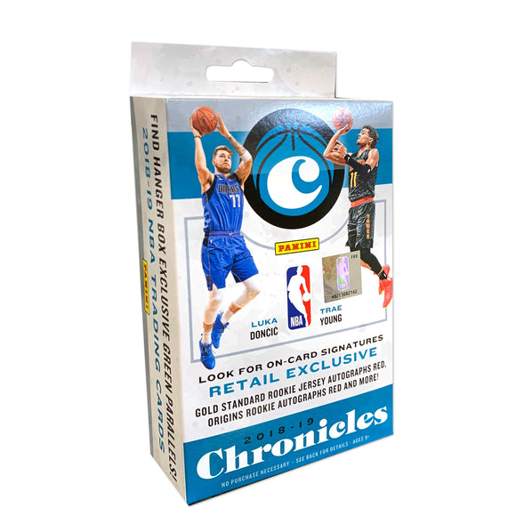 (CHASE LUKA RC's) 2018-19 Panini Chronicles Basketball Hanger Pack Box