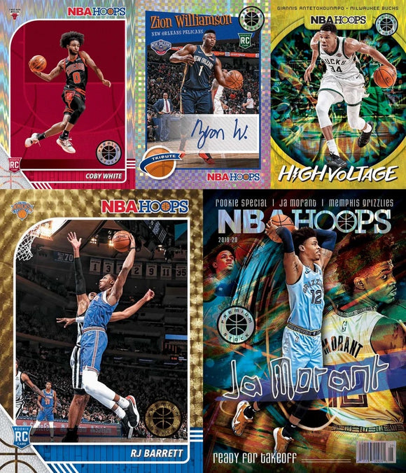 *SINGLE PACK* 2019-20 Panini Hoops Premium Stock Hobby Pack