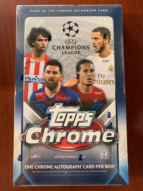 2019/20 Topps UEFA Champions League Chrome Soccer Hobby Box