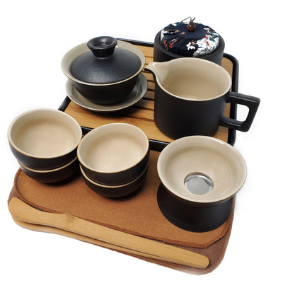 Ceremonial gong fu traveler tea set