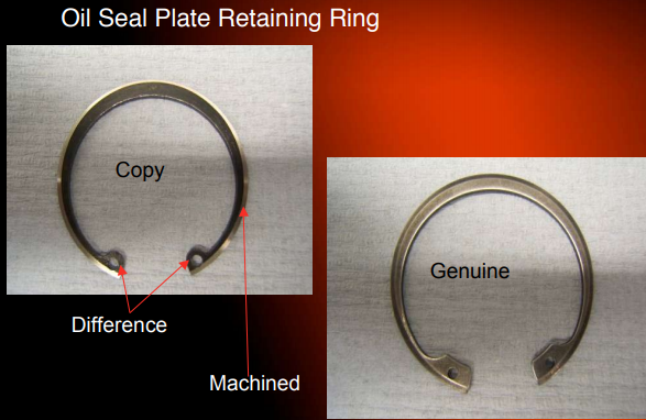 Holset oil seal retaining ring