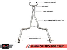 Load image into Gallery viewer, AWE Track Edition Exhaust System for Mercedes-Benz W205 AMG C63/S Coupe (no tips)