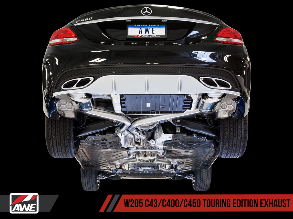 AWE Track to Touring Conversion Kit for Mercedes-Benz W205 AMG C43 / C450 / C400