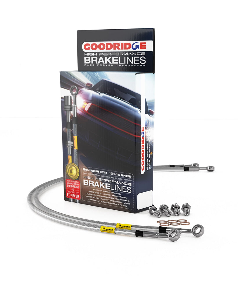 Goodridge 34002 03-04 Mercedes E320/E500/E55 / 06+ E350 W211 Chassis SS Brake Lines