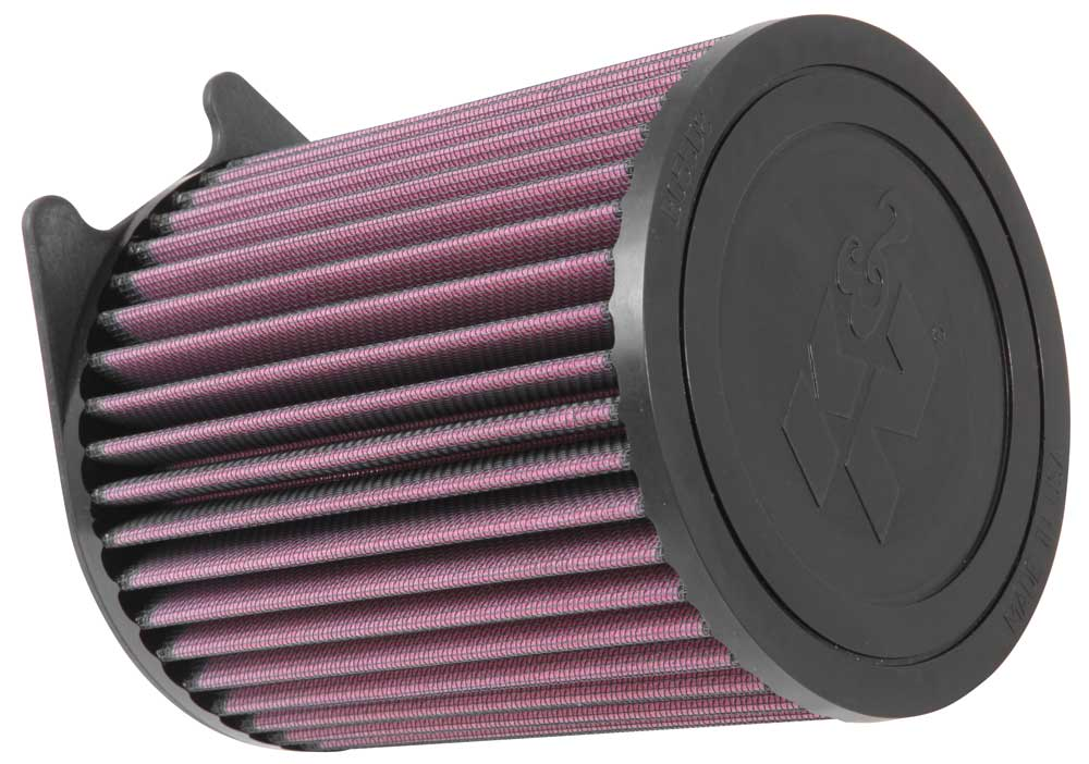 K&N E-0661 Replacement Round Straight Air Filter for 14-15 Mercedes Benz A45/CLA45/GLA45 AMG 2.0L