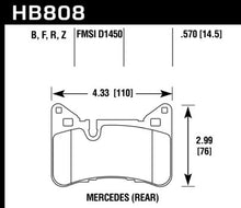 Load image into Gallery viewer, Hawk Performance HB808Z.570 HAWK Ceramic Brake Pad Sets