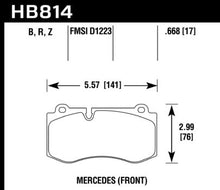 Load image into Gallery viewer, Hawk Performance HB814B.668 HAWK HPS 5.0 Brake Pad Sets