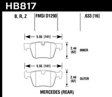 Load image into Gallery viewer, Hawk Performance HB817B.633 HAWK HPS 5.0 Brake Pad Sets