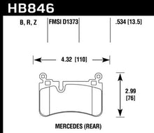 Load image into Gallery viewer, Hawk Performance HB846B.534 HAWK HPS 5.0 Brake Pad Sets