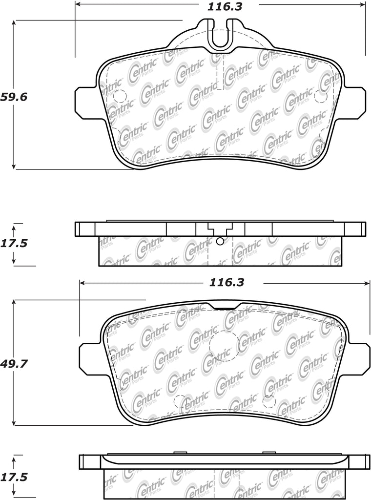 PosiQuiet 12-14 Mercedes-Benz SLK/M Class Premium Rear Ceramic Brake Pads
