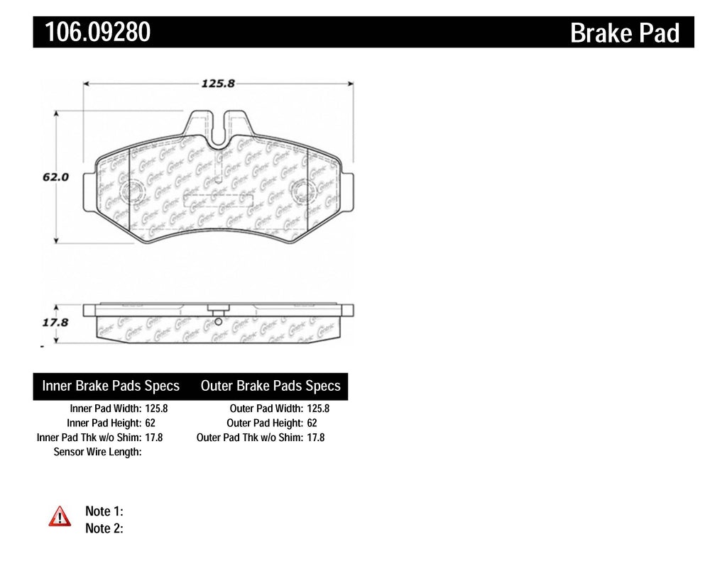 PosiQuiet Mercedes Benz 02-08 G500/09-13 G550/03-04 G55 AMG Rear Extended Wear Brake Pads