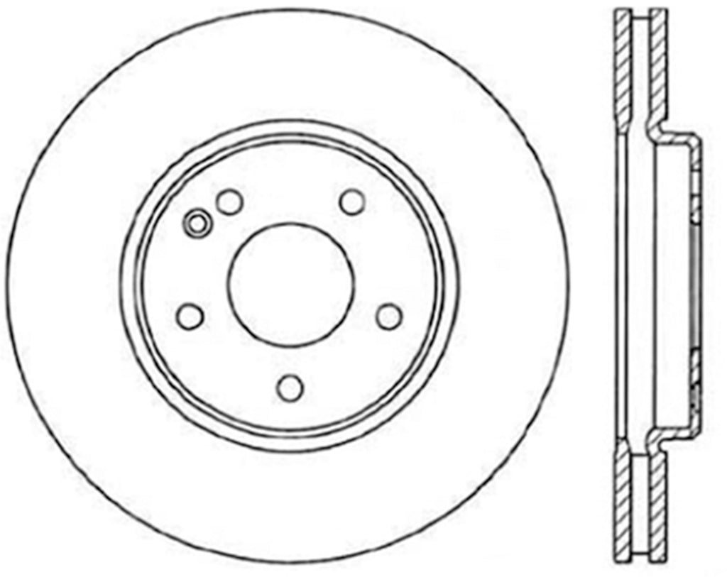 StopTech 03-06 Mercedes E500 Cryo Drilled Sport Front Rotor