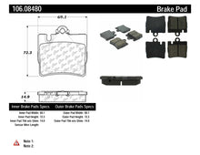 Load image into Gallery viewer, PosiQuiet Extended Wear 00-02 Mercedes S430/S500/CL500 / 01-02 S600/S55 AMG/CL600 Rear Brake Pads