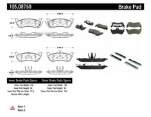 Load image into Gallery viewer, Centric 98-05 Mercedes Benz ML320/ML320 CDI/ML350 (W163/W164) Rear PosiQuiet Ceramic Brake Pads