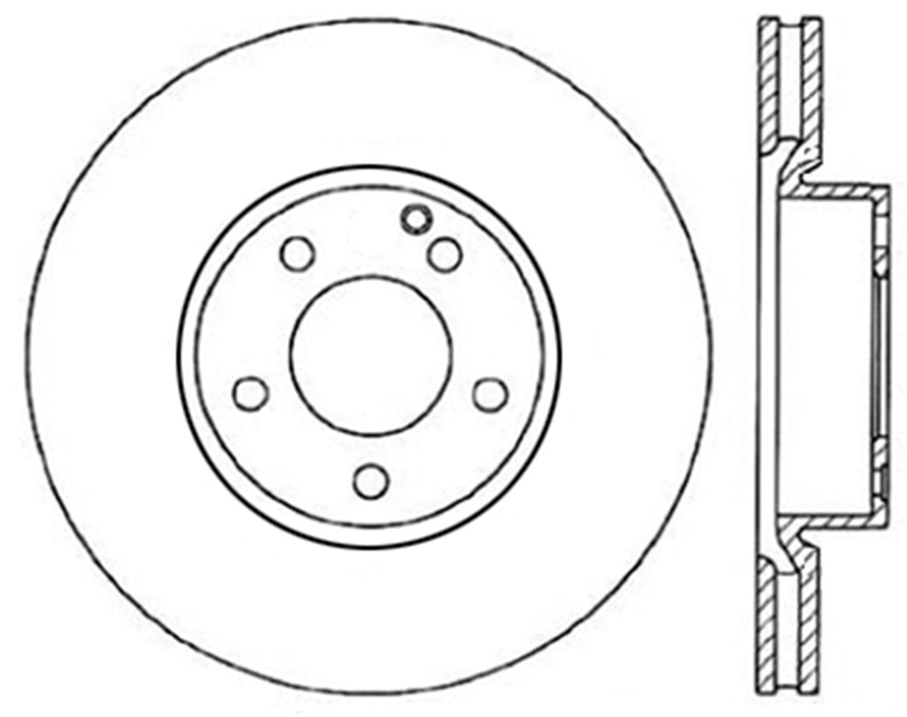 StopTech 13-17 Mercedes E400 Drilled Left Front Rotor