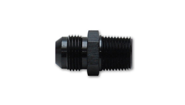 Vibrant -8AN to 1/4in NPT Straight Adapter Fitting - Aluminum