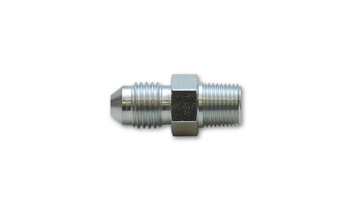 Vibrant -4AN to 1/8in NPT Straight Adapter Fitting - Steel