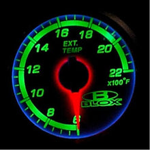 Load image into Gallery viewer, Blox Racing 52mm Exhaust Gas Temperature Gauge