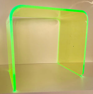 "The ""Side Piece"" Side Table in Neon Green"
