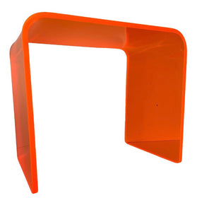 "The ""Side Piece"" Side Table in Neon Orange"