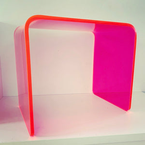 "The ""Side Piece"" Side Table in Neon Pink"