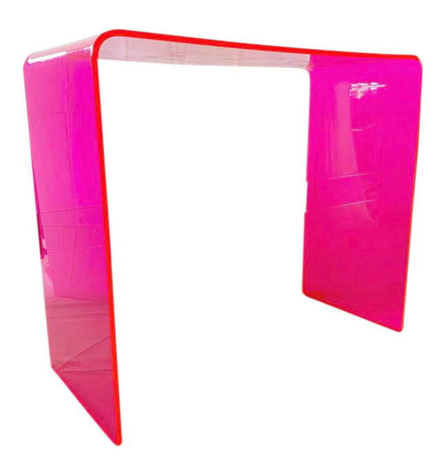 "The ""Tall Order"" Console Table in Neon Pink"
