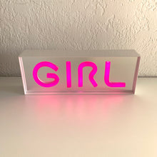 "Load image into Gallery viewer, Pop Art Inspired Neon ""Girl"" Light"