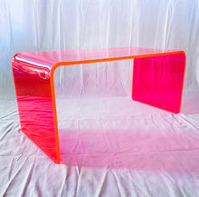 "Load image into Gallery viewer, The ""Long Game"" Coffee Table in Neon Pink"