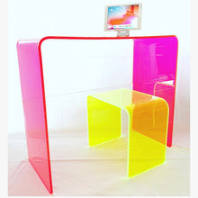 "Load image into Gallery viewer, The ""Side Piece"" Side Table in Neon Green"