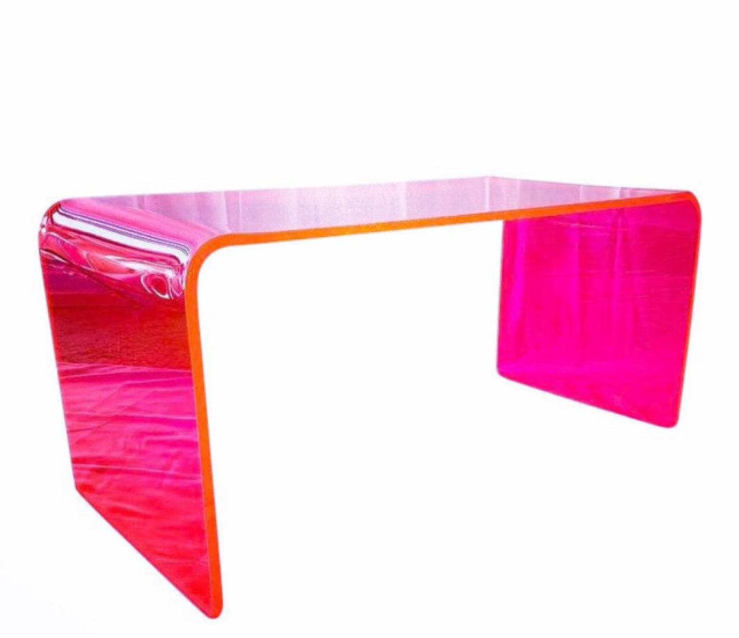 "The ""Long Game"" Coffee Table in Neon Pink"
