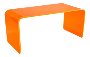 "The ""Long Game"" Coffee Table in Neon Orange"