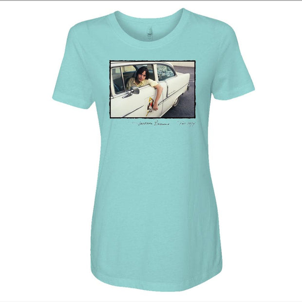 JACKSON BROWNE 1974 Car Ladies T-Shirt