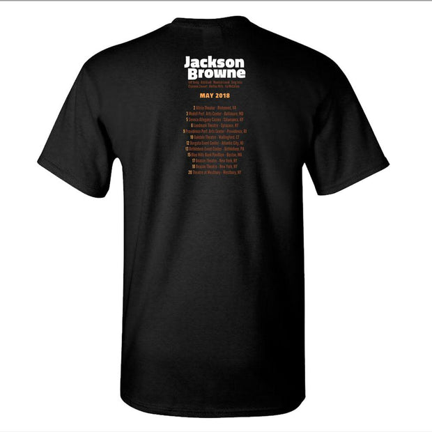 JACKSON BROWNE Guitar Band May Dates T-Shirt