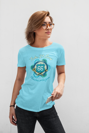 JACKSON BROWNE 66 Logo Ladies Cancun T-Shirt
