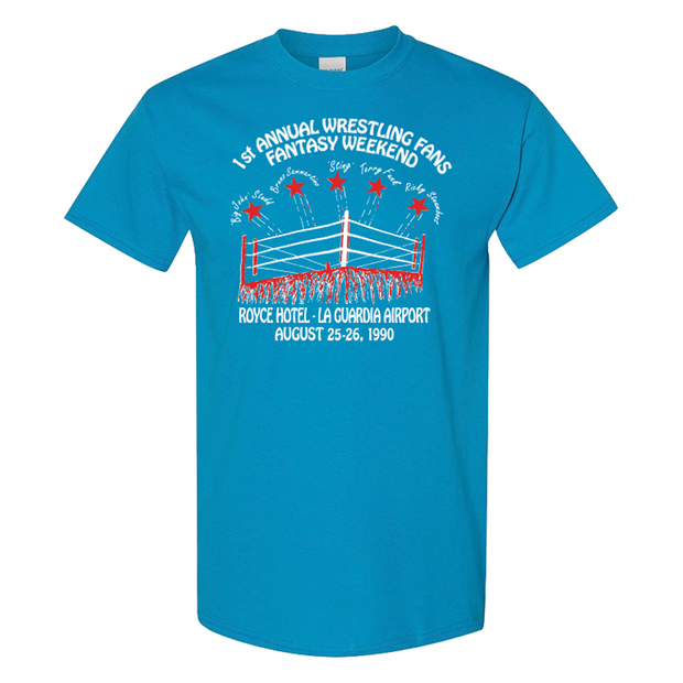 PWS Fantasy Weekend 1990 T-Shirt - Saphire